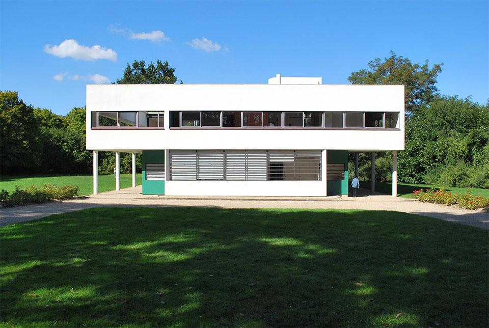 villa savoye entrée