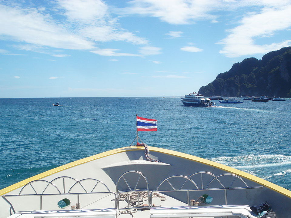 koh phi phi thailand boat