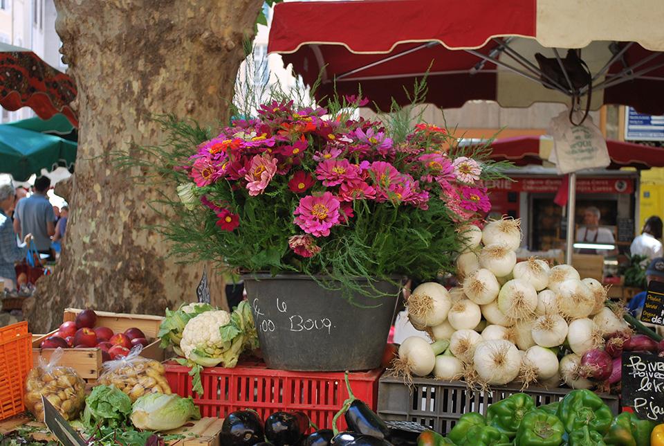 aix marché fleurs