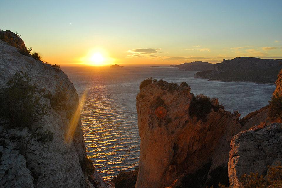 coucher de soleil route des cretes