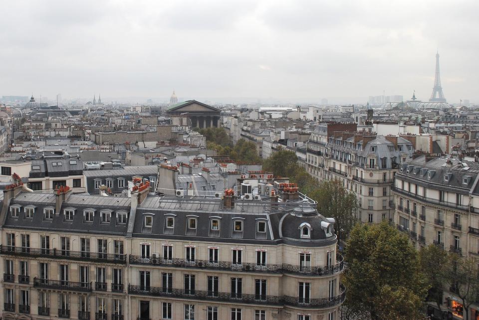vue depuis les galeries lafayette paris