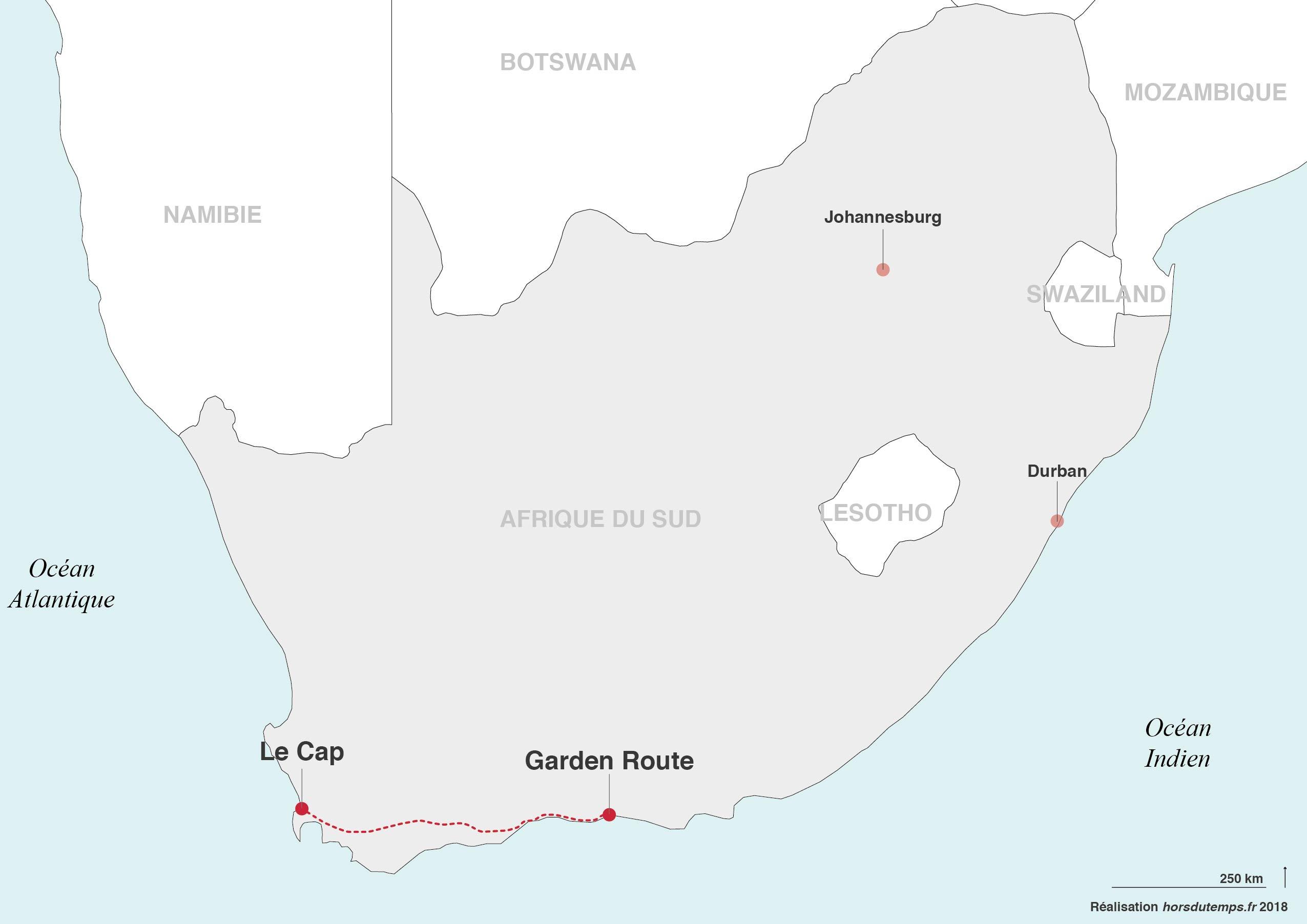 itinéraire voyage afrique du sud