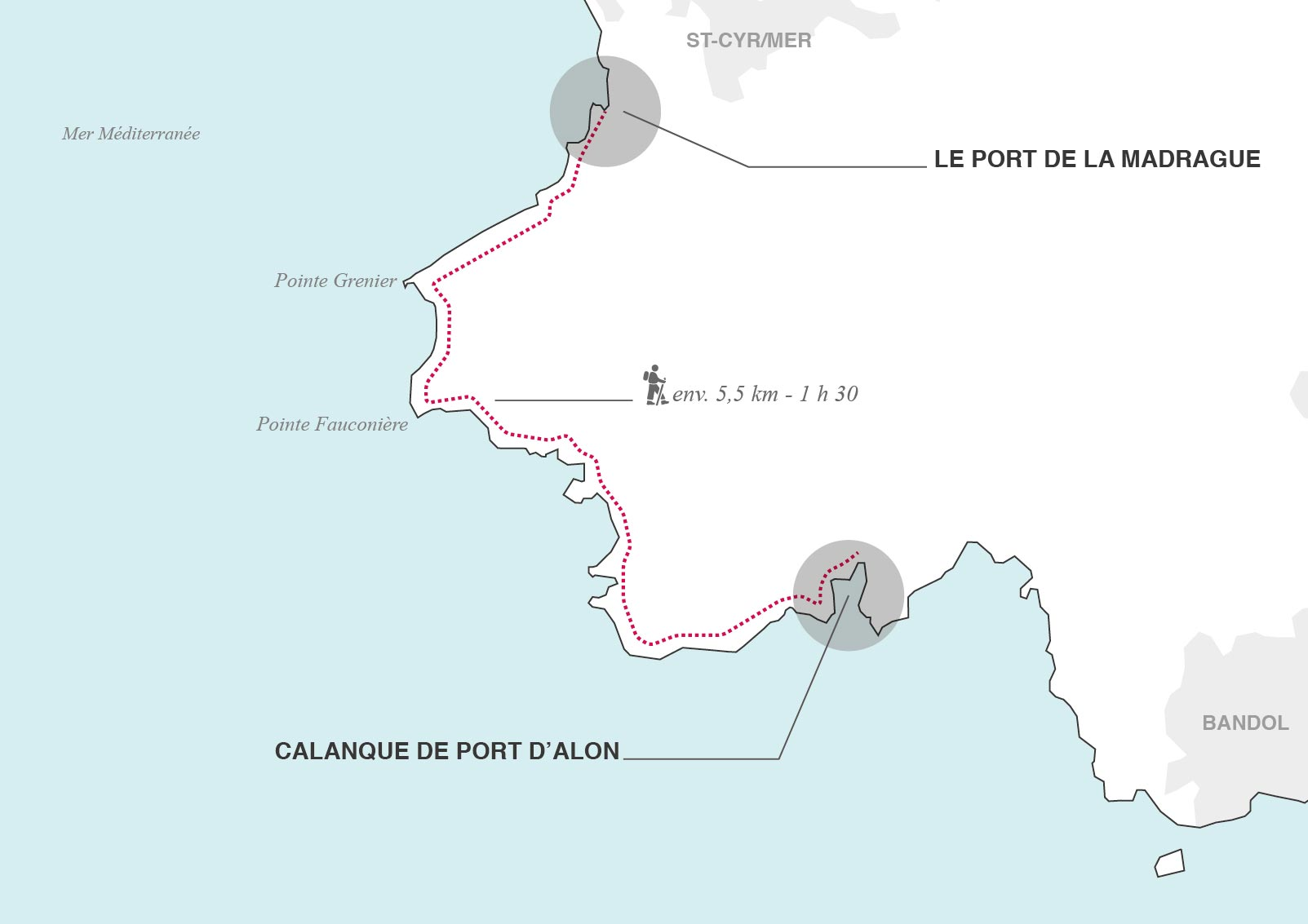 carte randonnee port dalon