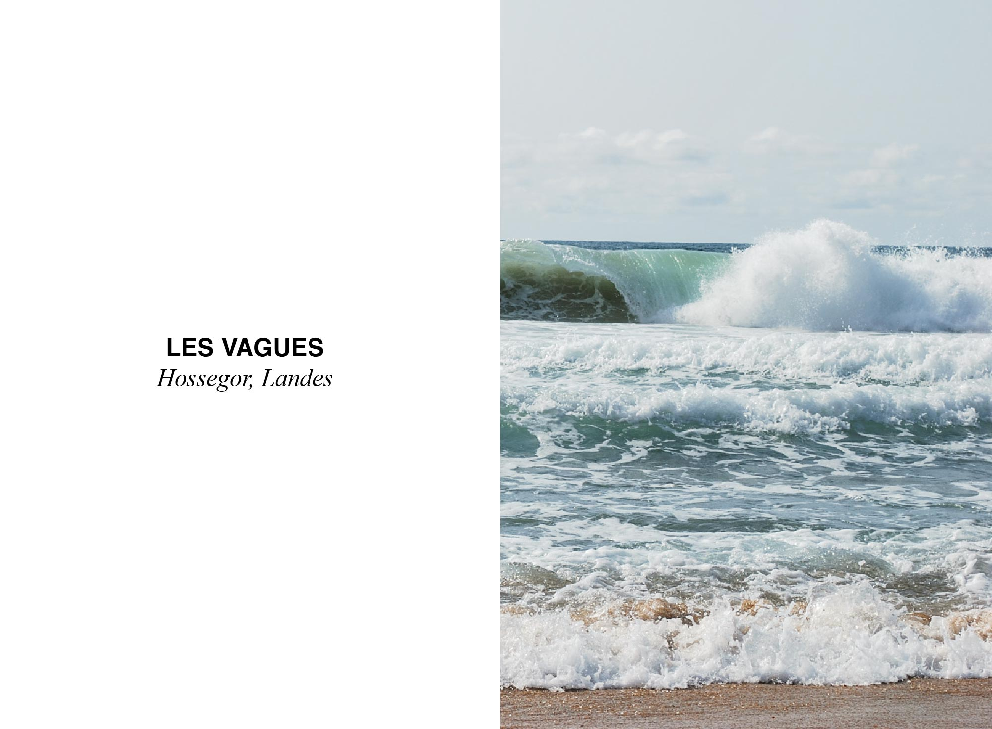 vague plage de la graviere