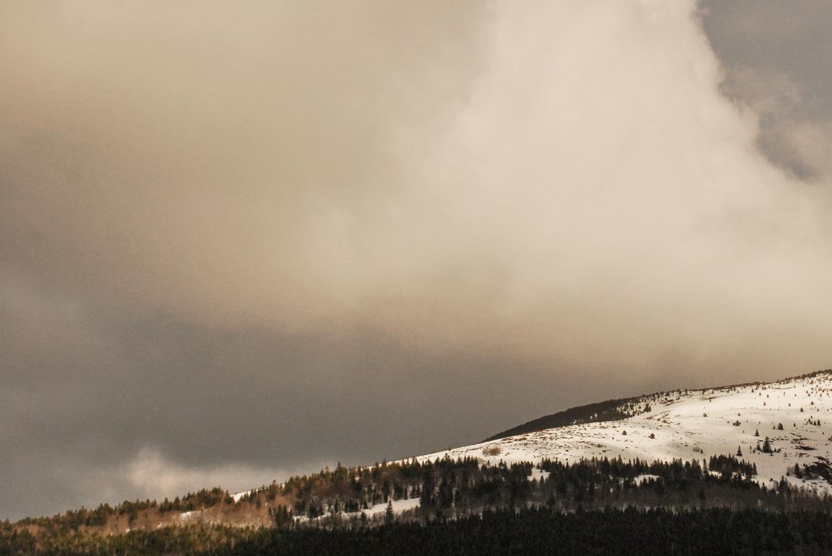 orage montagne hiver