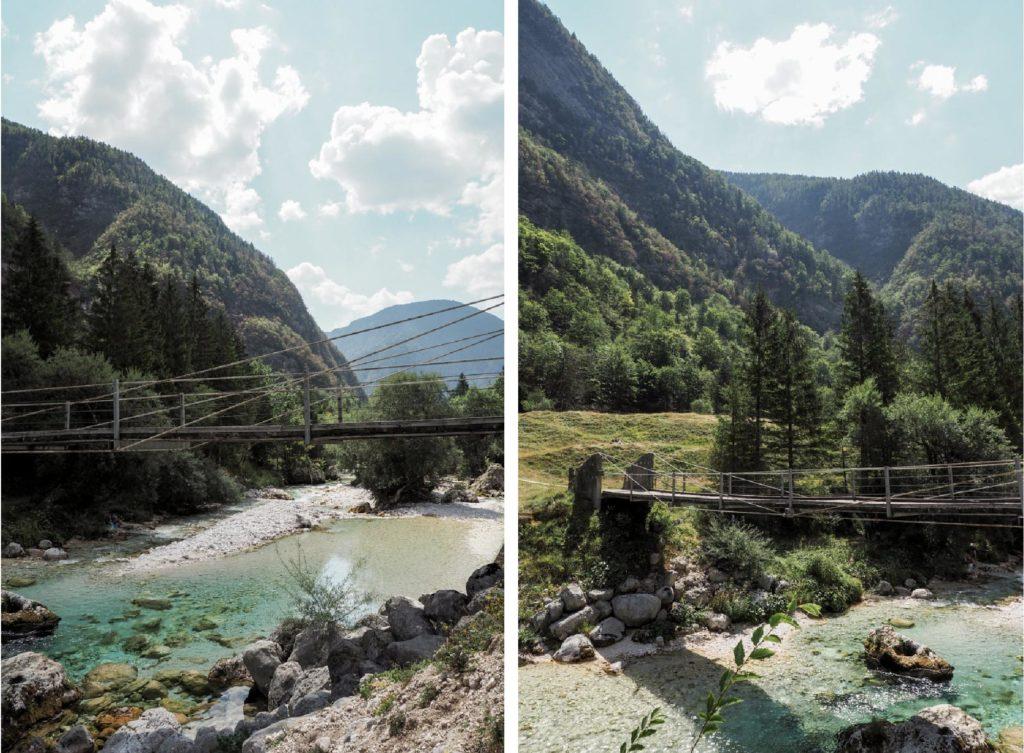 pont suspendu soca slovenie