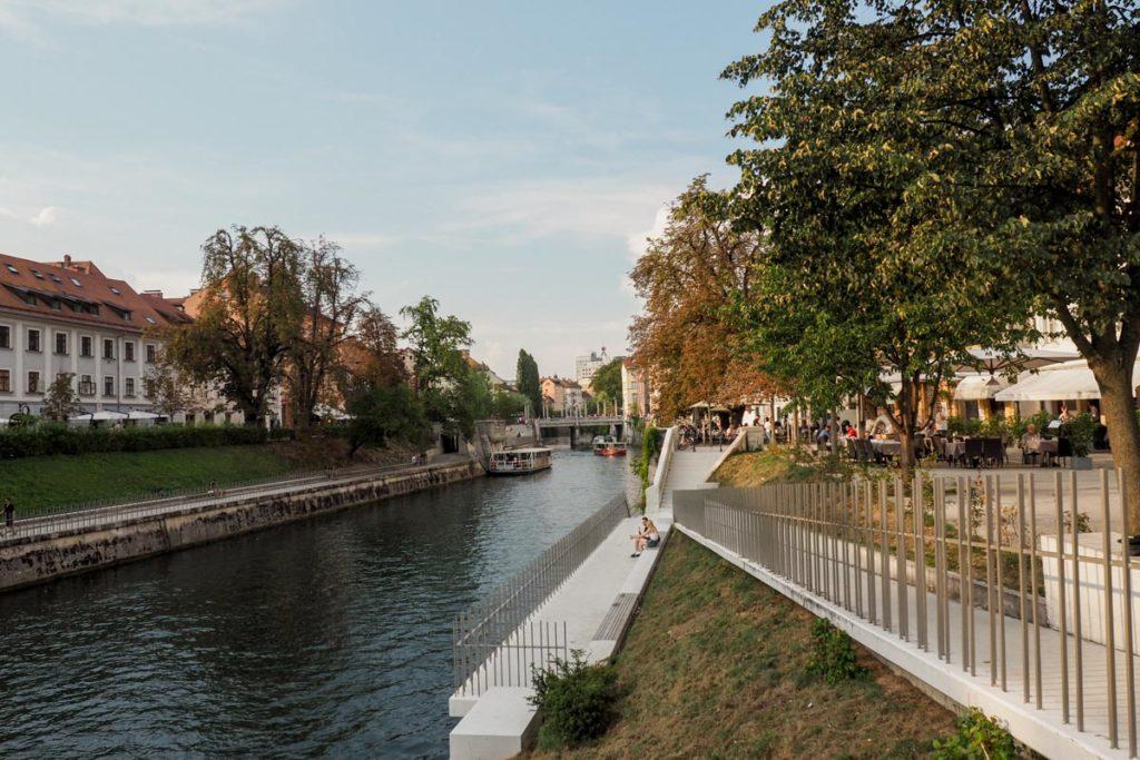 rives riviere ljubljana été