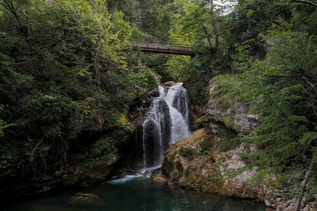 Cascade de Šum - Gorges de Vintgar