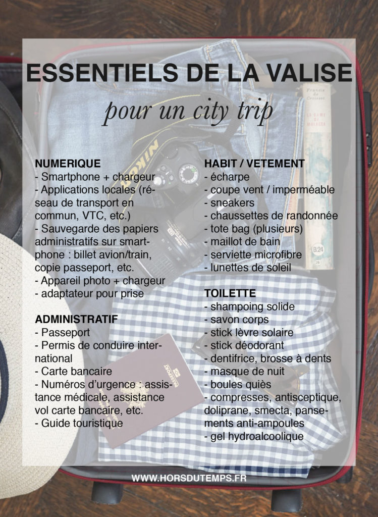 pinterest checklist valise