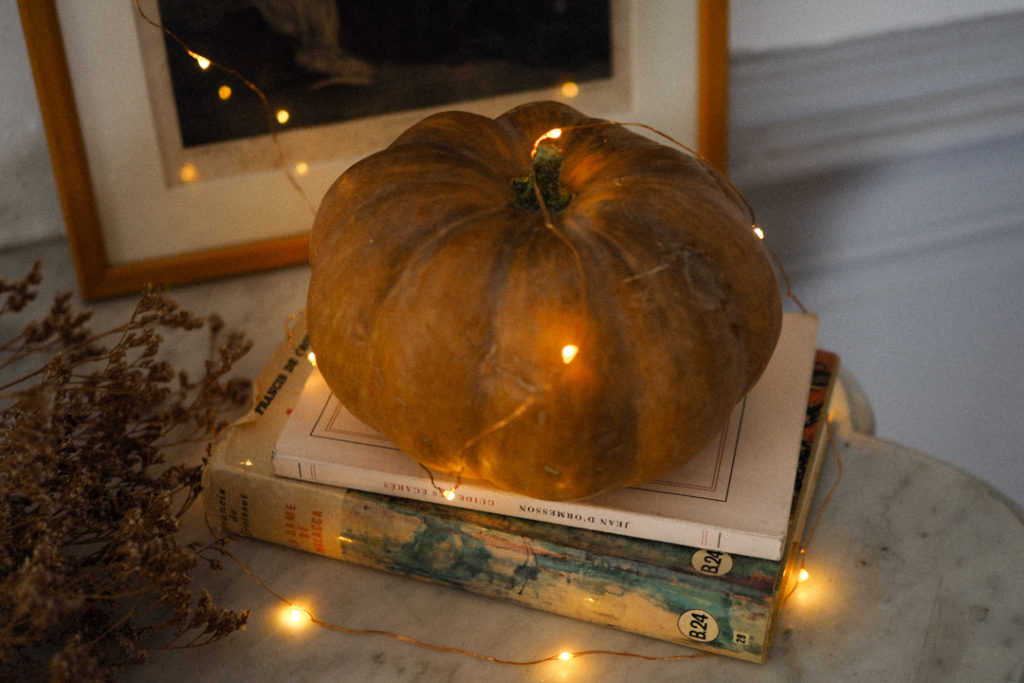 courge decors halloween